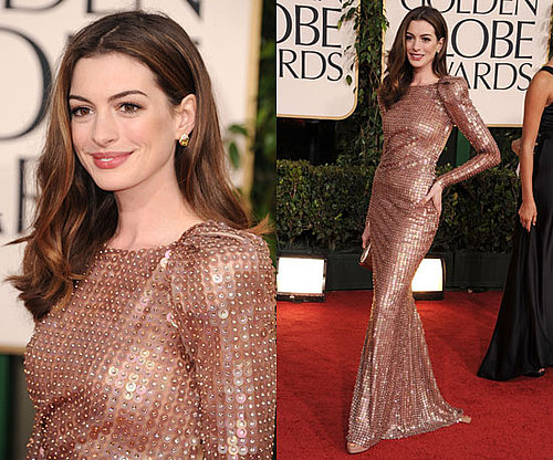 Anne Hathaway at 2011 Golden Globe Awards