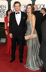 Colin Firth and wife Livia Giuggioli(2011 Golden Globes)