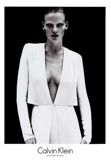 Lara Stone for Calvin Klein Collection, by Mert Alas and Marcus Piggott