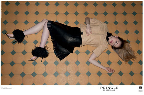 Skins actress Freya Mavor for Pringle, by Walter Pfeiffer