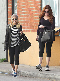 Pictures of Nicole Richie and Khloe Kardashian Leaving Gym Together in LA