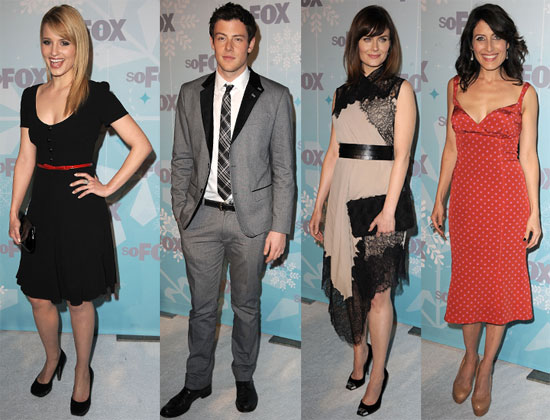 Pictures of the Cast of Glee, House, and Bones at the Fox Winter TCAs