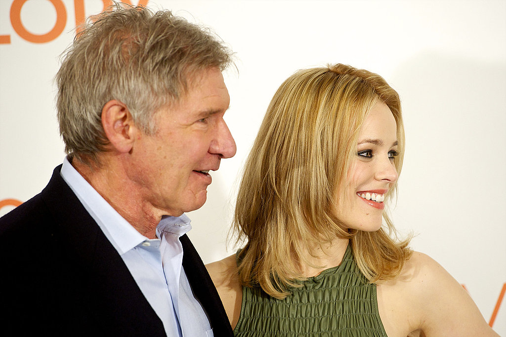 Rachel McAdams and Harrison Ford Say Hola! to Spain on Their Morning Glory Tour