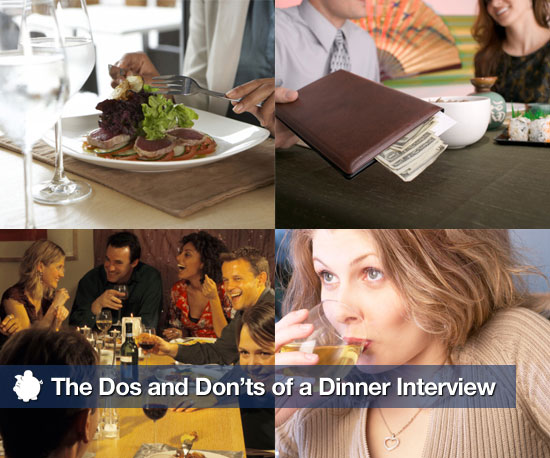 The Dos and Don'ts of a Dinner Interview