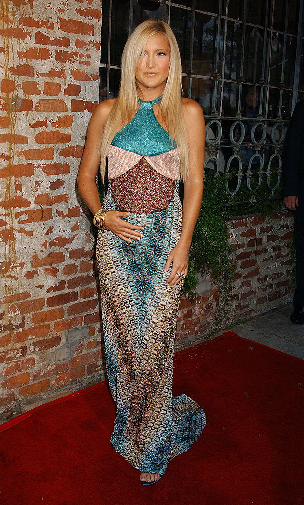 Dressing up her bump in a gorgeous Missoni maxi at the Le Divorce LA premiere in July '03.