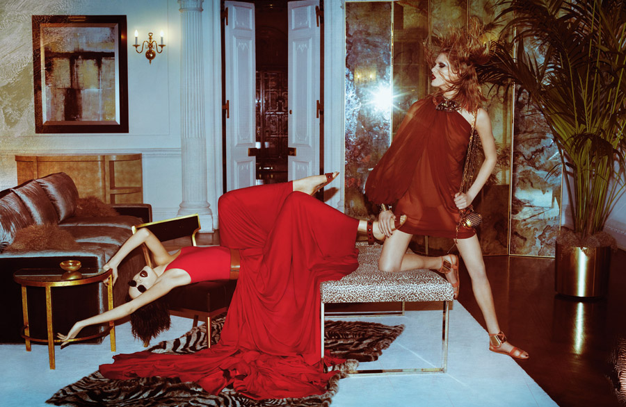 Catfight! Kinga Rajzak and Iselin Steiro Duke It Out in Lanvin's Spring 2011 Campaign