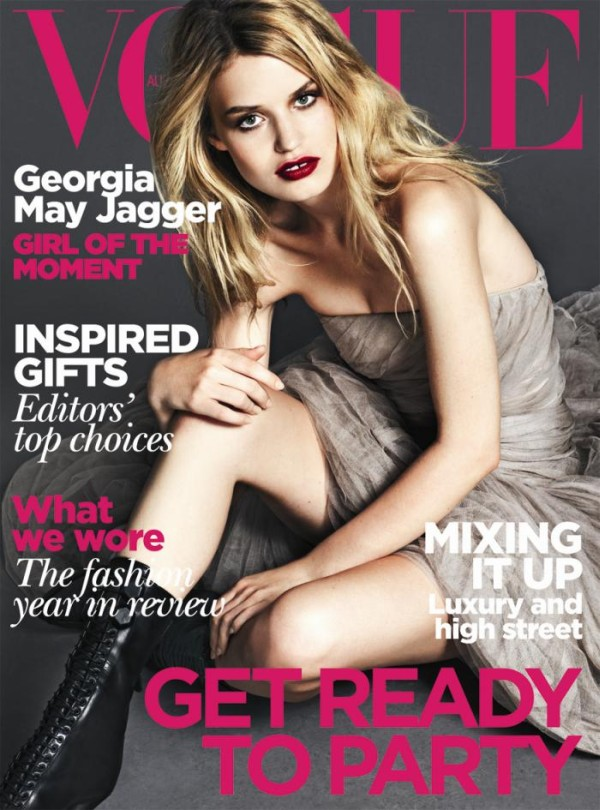 Georgia May fronts Vogue Australia's cover.
