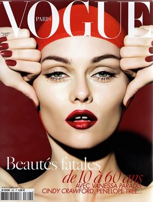 Vanessa Paradis on the cover of French Vogue.
