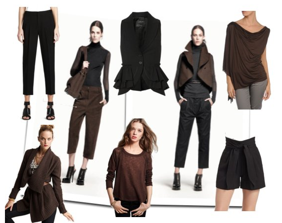 Here's a new color combo to try: black and brown.