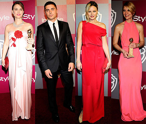 Pictures of Pregnant Natalie Portman, Zac Efron, Claire Danes at InStyle Golden Globes Party
