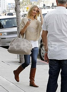 Pictures of Cameron Diaz Having Lunch With Alex Rodriguez