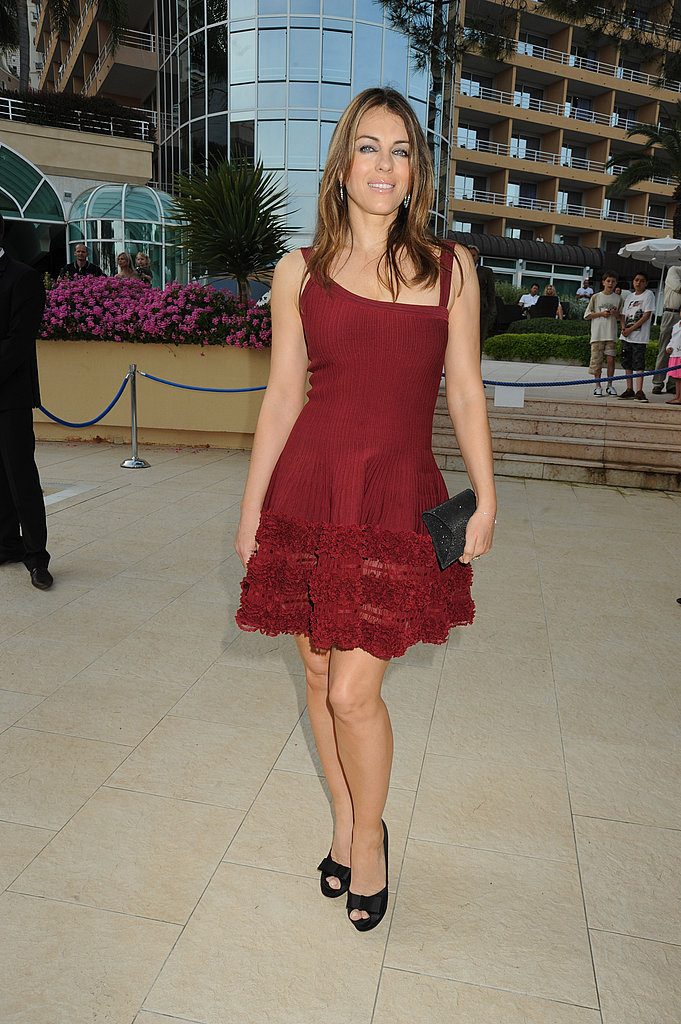 Elizabeth Hurley in red.