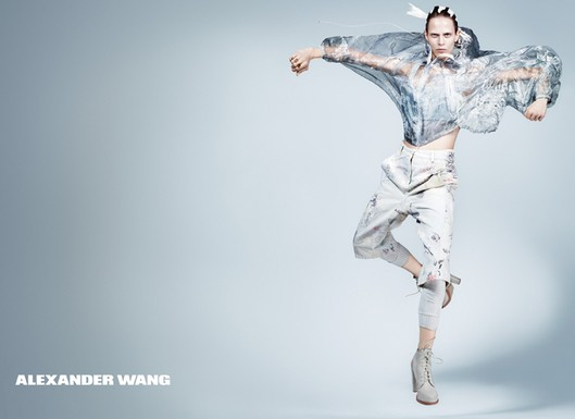 Aymeline Valade for Alexander Wang, by Craig McDean