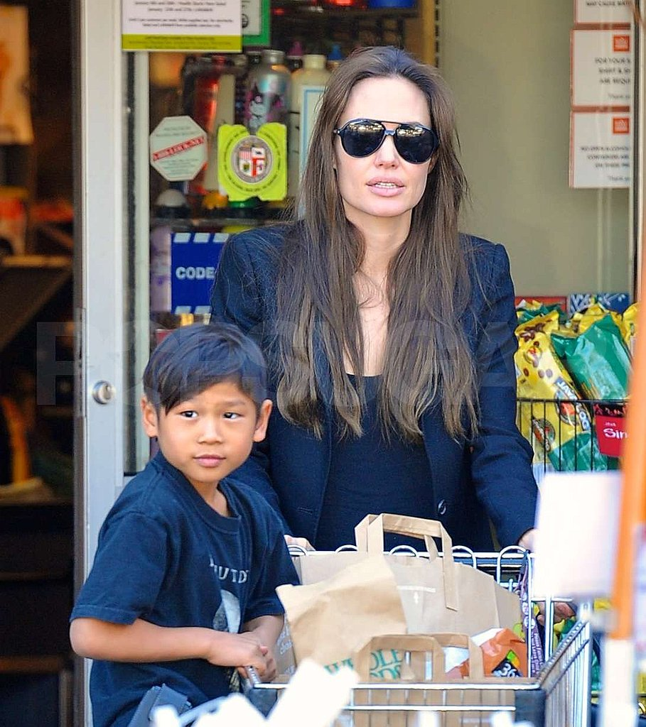 Angelina Jolie at Whole Foods With Pax Jolie-Pitt