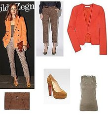 Get Olivia Palermo Ermenegildo Zegna Milan Fashion Week Clothing