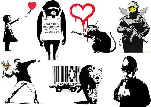 Get New Banksy Art Temporary Tattoos