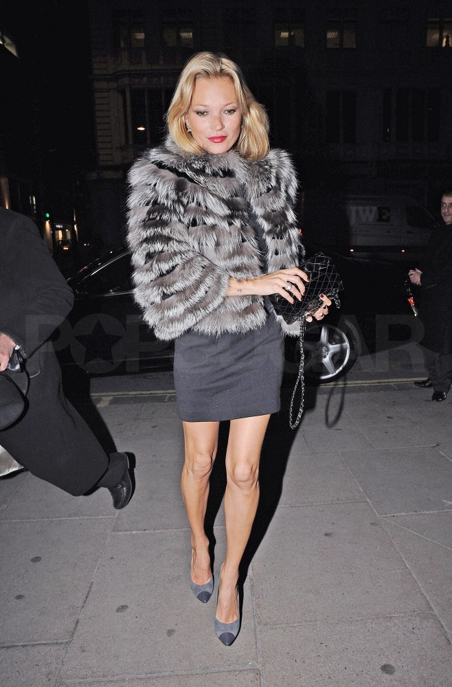 Pictures of Kate Moss Out to Dinner in London