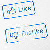 Facebook Like and Dislike Stamps
