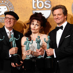 Colin Firth and The King's Speech Cast 2011 Screen Actor's Guild Award Press Room Quotes