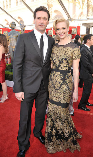 January Jones and Jon Hamm Make a Mad Pair on the SAG Awards Red Carpet