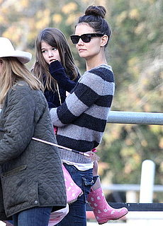 Pictures of Katie Holmes and Suri Cruise at the Equestrian Center in LA