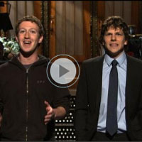 Video of Mark Zuckerberg on Saturday Night Live with Jesse Eisenberg 2011-01-30 00:20:10