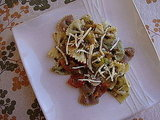 Pesto and Green Olive Pasta Salad