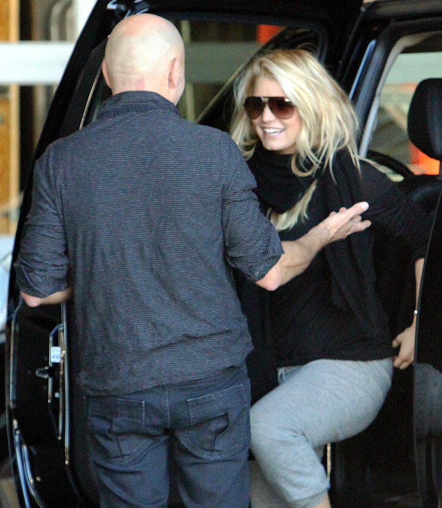 Jessica Simpson Pairs Her Sweats and Sparkler For a Photo Shoot
