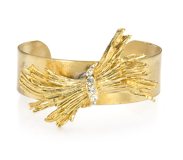 Cocotay Gold Cuff with Wheat Design ($255)