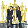James Franco and Anne Hathaway Oscar Statue Pictures For Academy Awards Show Promo 2011-01-25 15:38:12