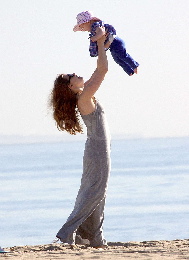 Amy Adams and Aviana Share a Day at the Beach Ahead of Her Big Oscar News!