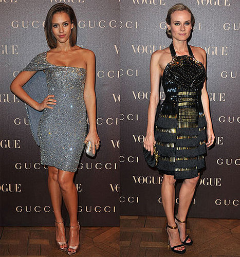 Pictures of Diane Kruger and Jessica Alba at Vogue and Gucci's Paris Haute Couture Fashion Week Dinner 2011-01-25 14:48:54