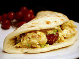 Curried Chicken Salad on Flatbread
