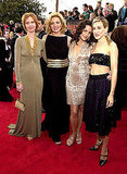 The ladies of Sex and the City showed off their individual style — and for SJP, her super-toned abs — at the SAG awards in '01.
