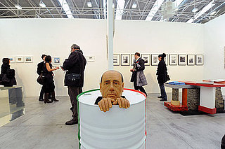 Silvio Berlusconi at Arte Fiera Art First Show in Italy