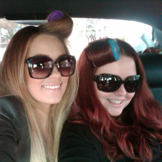 Lauren Conrad worked on her volume on her way to an event.  Source: Twitter user laurenconrad