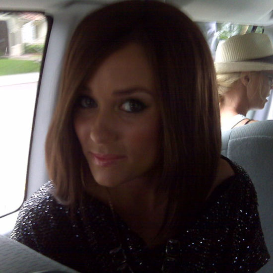 She tried out a darker 'do.  Source: Twitter user laurenconrad