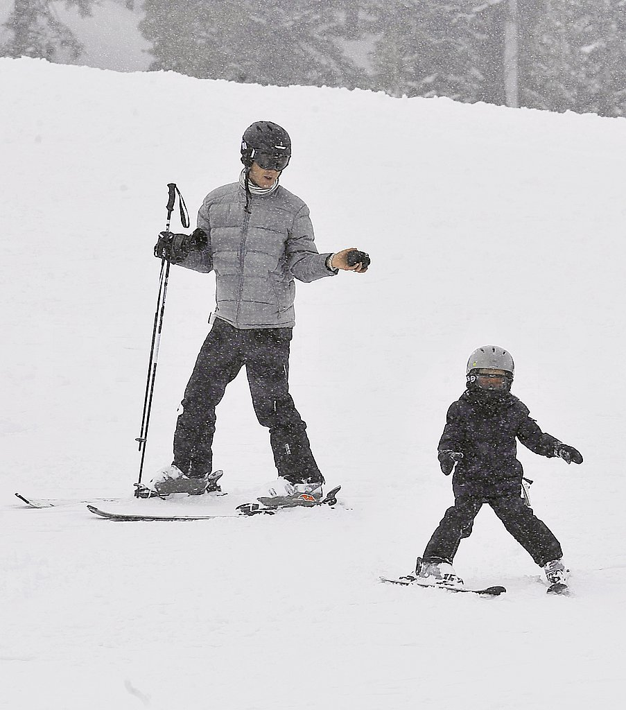 Gwen and Gavin Take Kingston and Zuma on a Skiing Adventure!