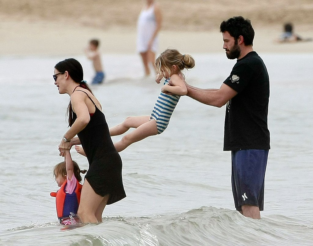 Ben Affleck and Jennifer Garner Say Aloha to 2011 on the Beach With Seraphina and Violet!
