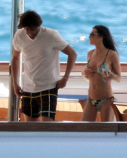 Pictures of Demi Moore in a Bikini Yachting With Ashton Kutcher in St. Barts