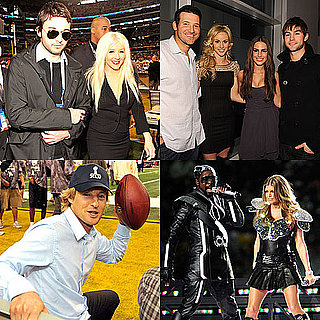 Pictures of Jennifer Aniston, Fergie, Christinia Aguilera, at the Super Bowl 2011-02-06 20:43:37