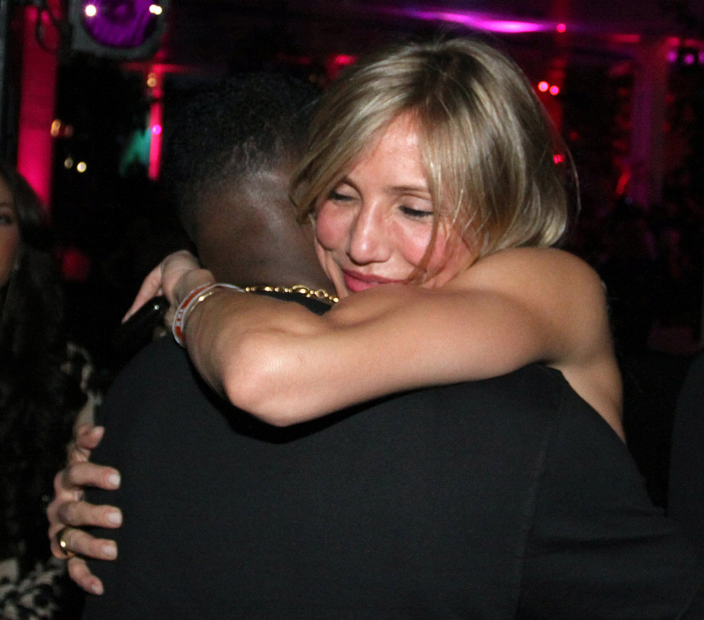 Cameron Diaz Feeds ARod and Hugs Diddy at the Super Bowl!