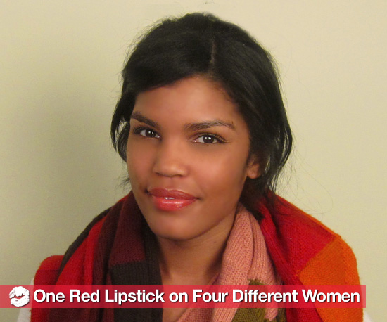 How One Orange-Red Lipstick Looks on Four Women