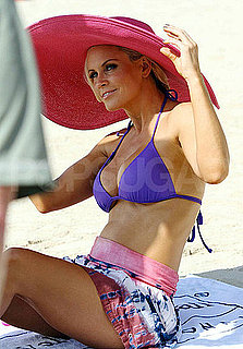 Pictures of Jenny McCarthy Wearing a Purple Bikini on a Cruise