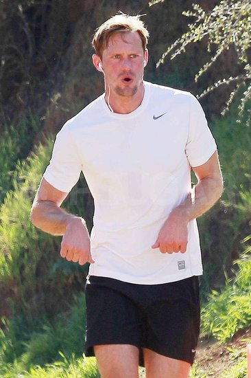 Pictures of Alexander Skarsgard Sweating