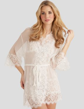 Mary Green lace robe ($198)