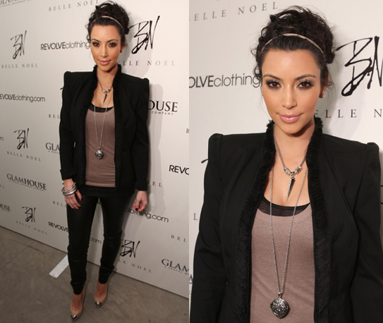 Kim Kardashian Celebrates Launch of New Jewelry Line Belle Noel
