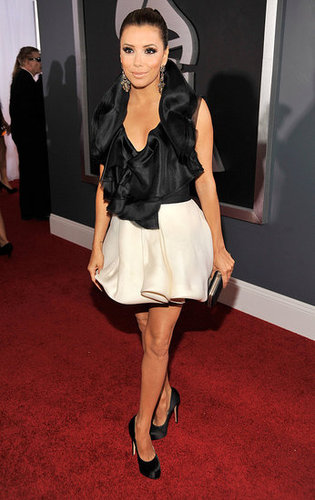 Pictures of Eva Longoria on the Red Carpet at the 2011 Grammy Awards 2011-02-13 16:51:17
