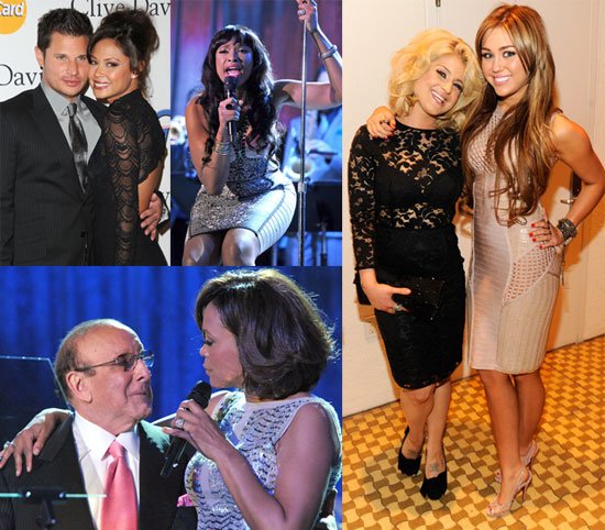 Miley, Kelly, Whitney, and More Turn Out For Clive Davis's Annual Grammys Bash