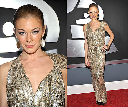 LeAnn Rimes in gold at the Grammys 2011